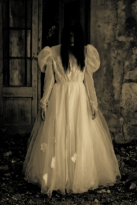 15693133 - horror scene of a scary woman - bride