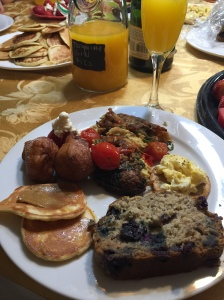 plate with brunch
